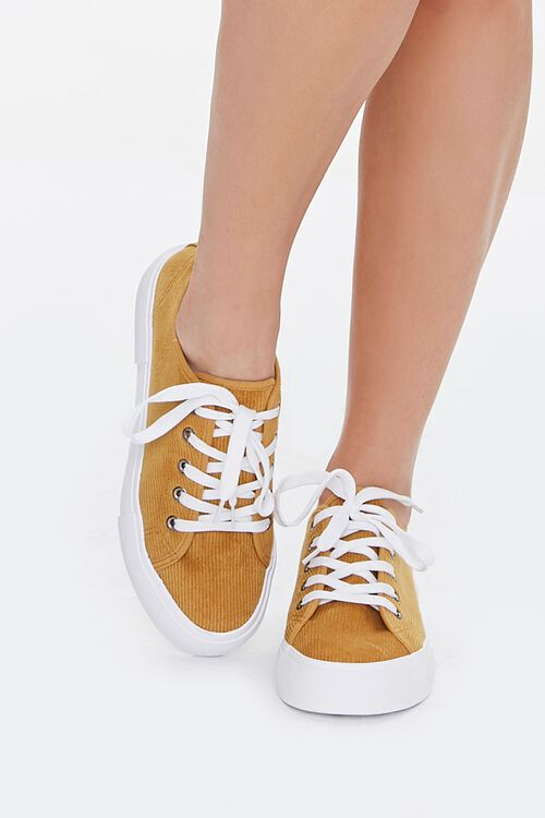 Lace-Up Corduroy Sneakers, image 4