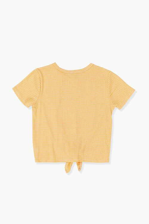 Girls Striped Knotted Tee (Kids), image 2