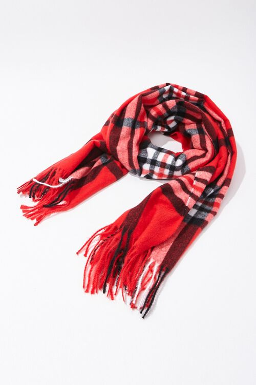 Plaid Oblong Scarf, image 2
