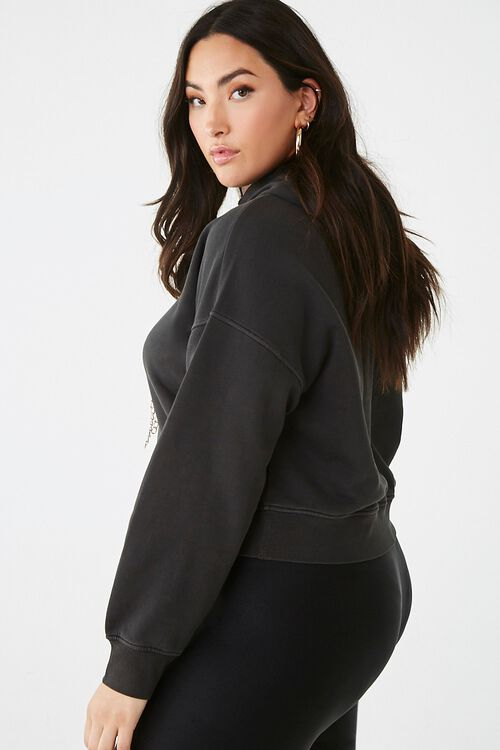 Plus Size Curb Chain Hoodie, image 2