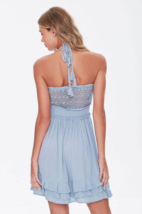 Halter Ruffle-Trim Mini Dress, image 3