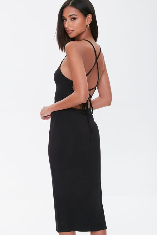 Lace-Up Bodycon Dress, image 3