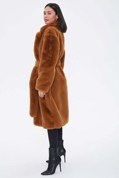 Faux Fur Longline Coat, image 2
