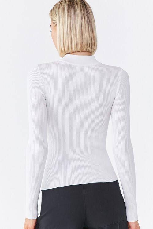 Ribbed Cutout Sweater, image 3