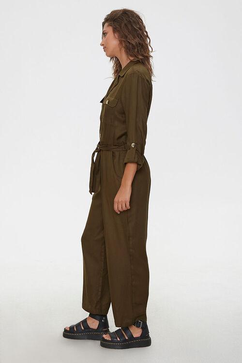 Tie-Waist Button-Front Jumpsuit, image 2