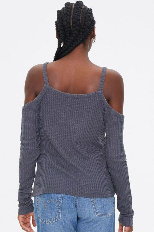 Open-Shoulder Waffle Knit Top, image 2