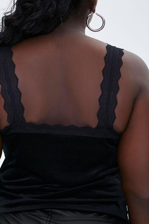 Plus Size Velvet Lace Crop Top, image 3