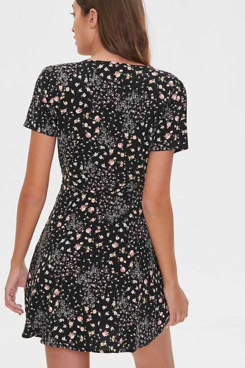 Floral Print Mini Dress, image 3