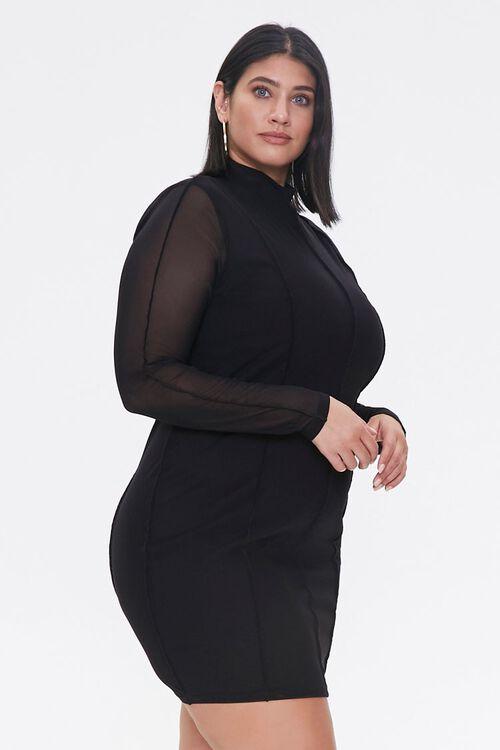 Plus Size Mock Neck Mini Dress, image 2
