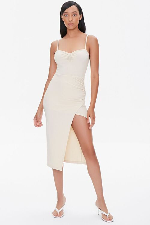 Ruched Cami Bodycon Dress, image 4