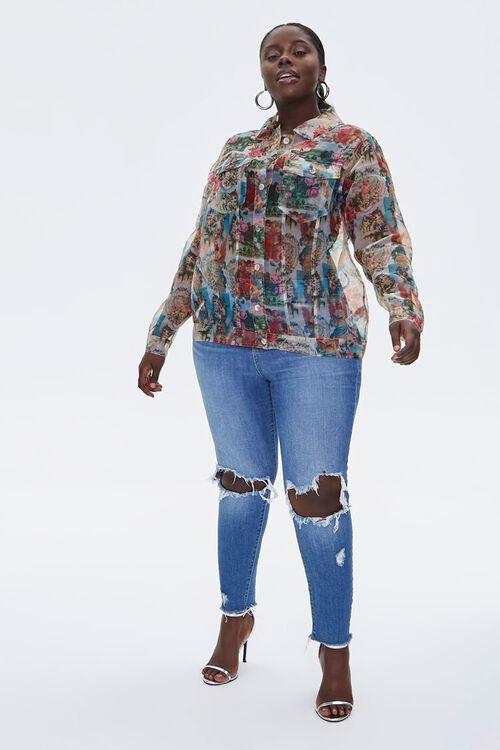 Plus Size Organza Cherub Shirt, image 4