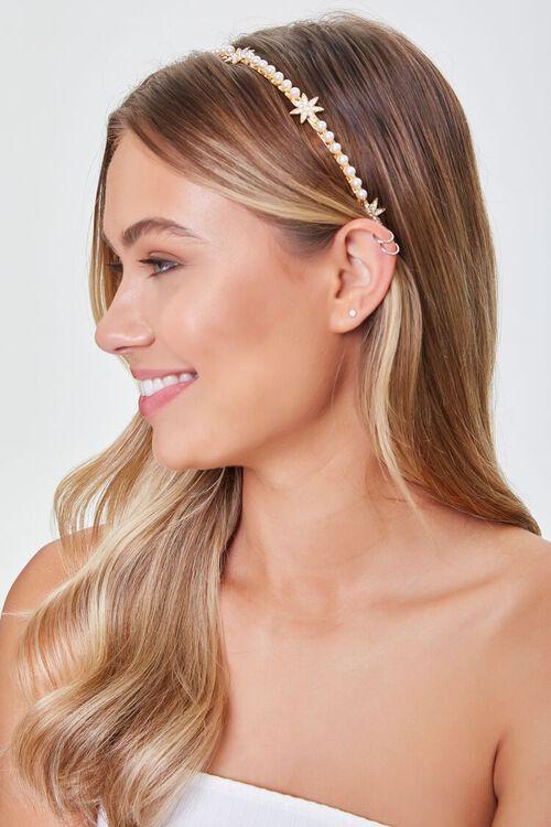 Faux Pearl Star Charm Headband, image 1