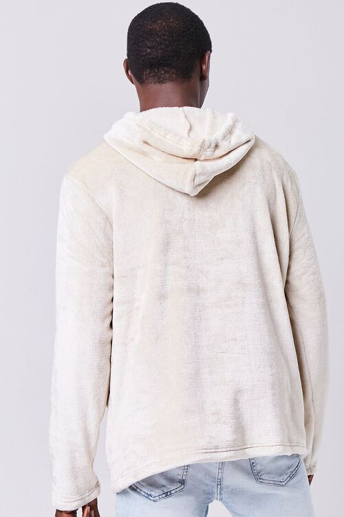 TAUPE Fuzzy Knit Hoodie, image 3