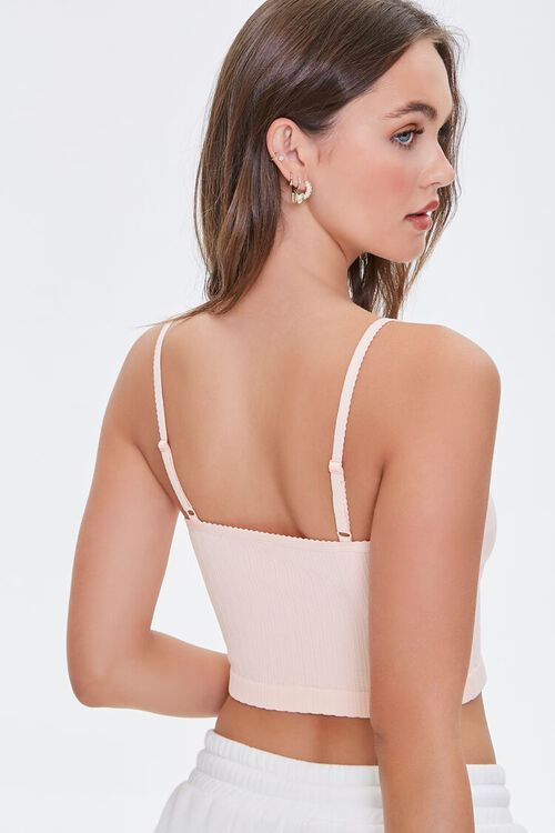 Seamless Ribbed Cropped Cami, image 3