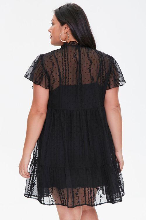 Plus Size Ruffle-Trim Lace Dress, image 3