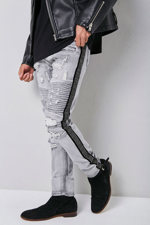 Waimea Distressed Moto Jeans, image 1