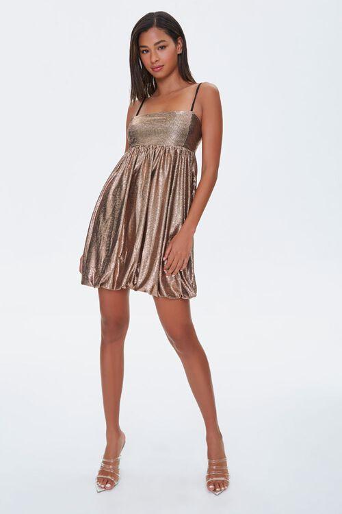 Metallic Fit & Flare Dress, image 4