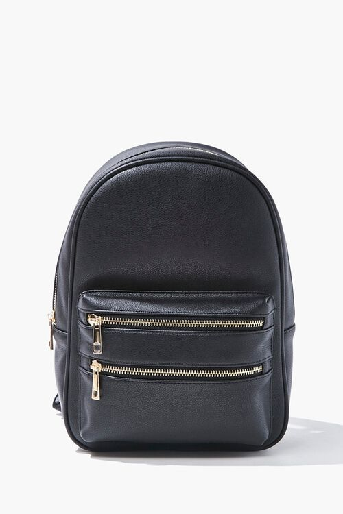 Faux Leather Backpack, image 1