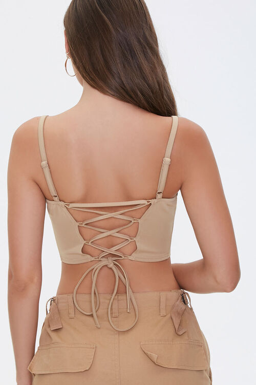 Lace-Up Cropped Cami, image 3