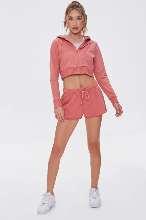 FADED ROSE Active French Terry Zip-Up Jacket, image 4