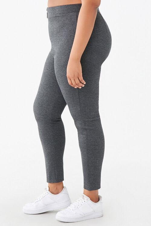 Plus Size Zip-Front Leggings, image 3