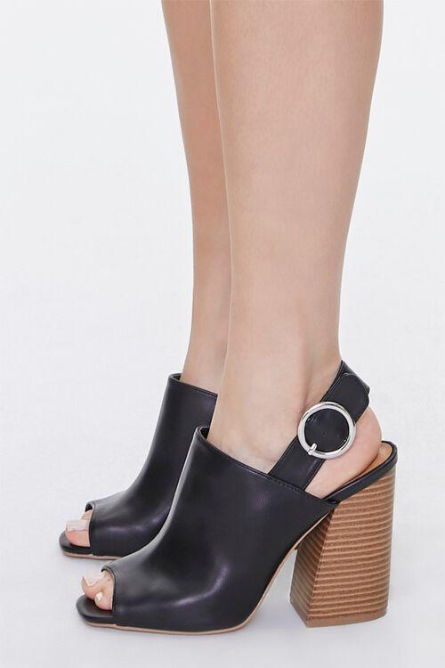 Stacked Wooden Block Heels, image 2