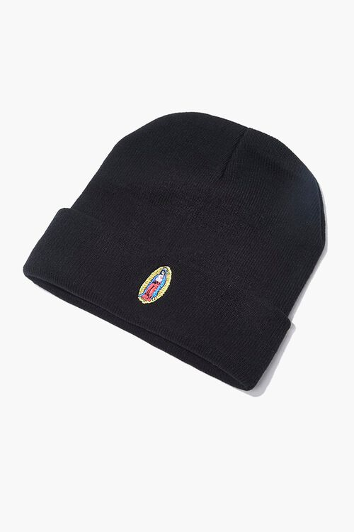 Embroidered Guadalupe Graphic Beanie, image 1