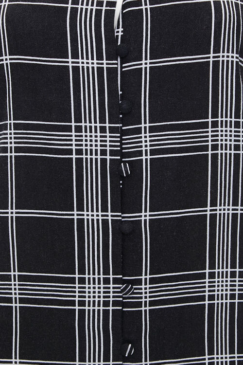Plaid Flounce-Hem Mini Dress, image 4