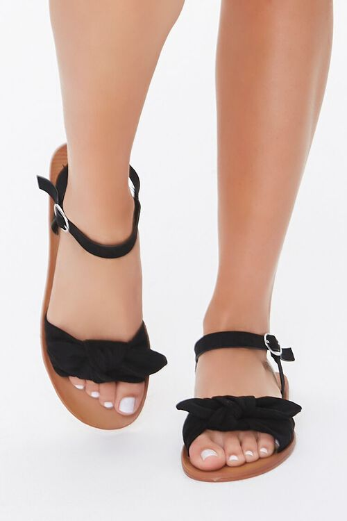 Faux Suede Knotted Sandals, image 2