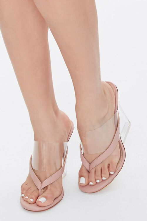 Toe-Thong Lucite Wedge Heels, image 1