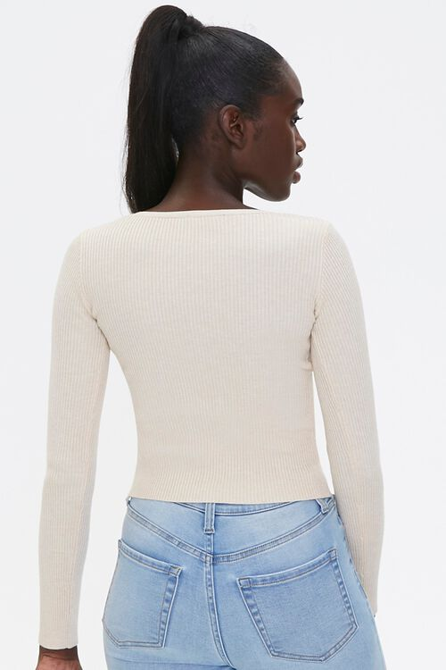 Sweater-Knit Lace-Up Top, image 3