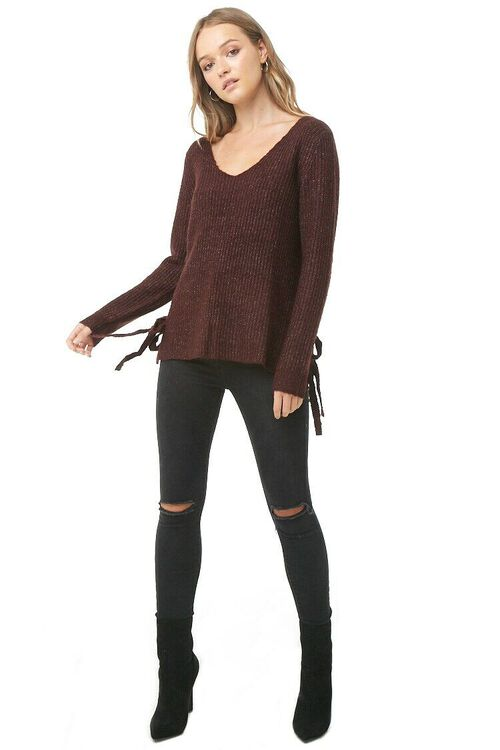 PLUM Vented Marled Knit Sweater, image 4