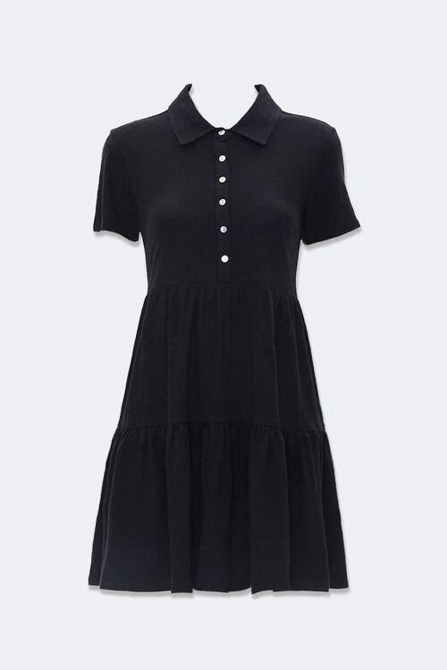 Tiered Polo Shirt Dress, image 1