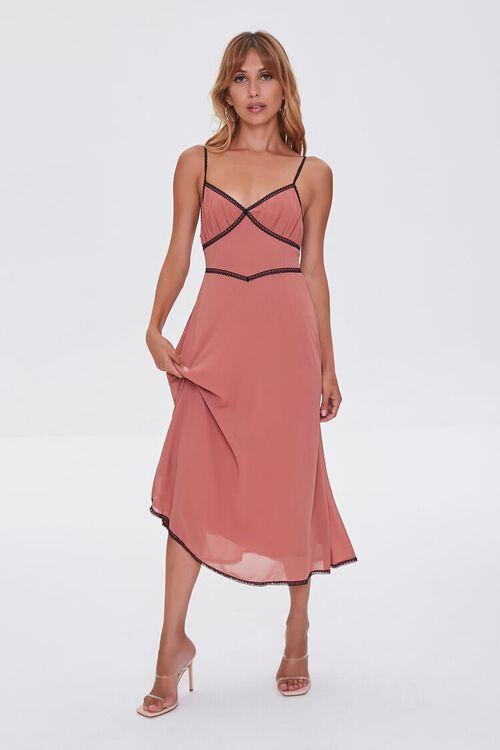 Chiffon Lace-Trim Dress, image 2