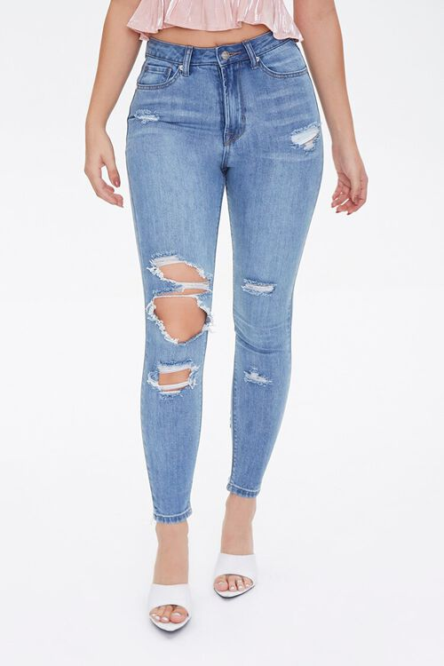 MEDIUM DENIM Curvy Fit High-Rise Jeans, image 2