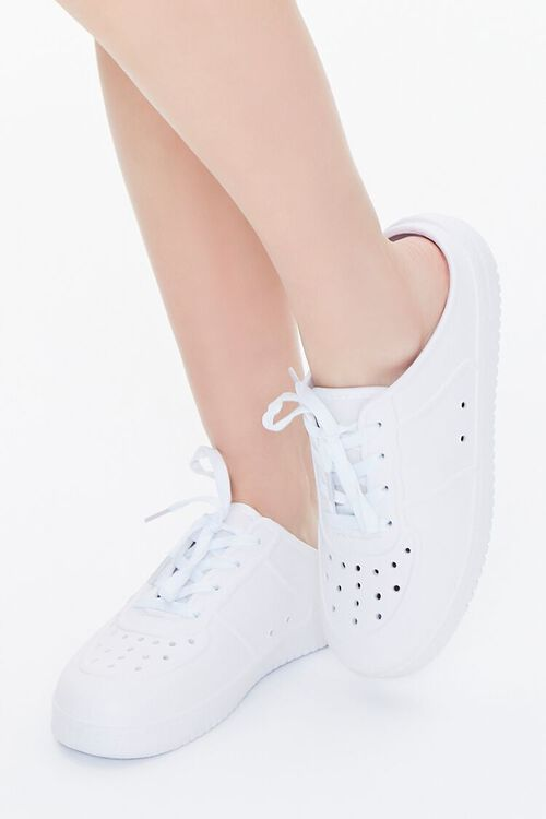 Perforated Low-Top Sneakers, image 1