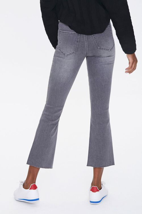 GREY High-Rise Flare Ankle Jeans, image 4
