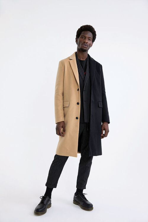 Colorblock Longline Coat, image 1