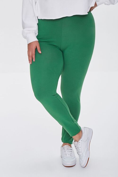 JUNIPER Plus Size Basic Organically Grown Cotton Leggings, image 2