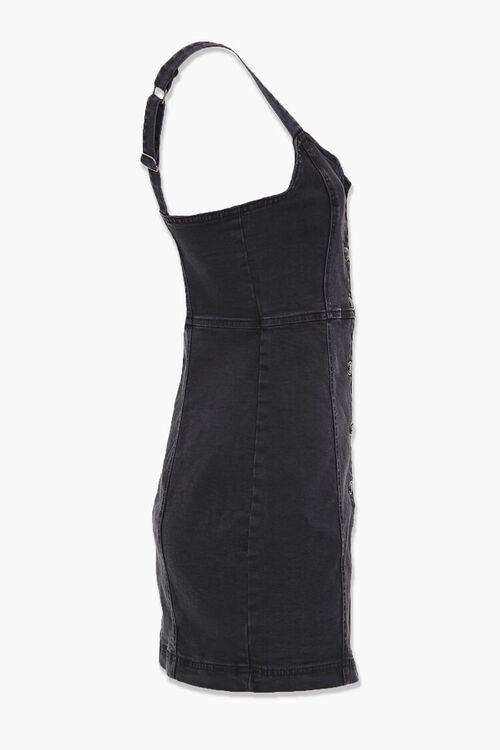 WASHED BLACK Denim Button-Down Dress, image 2