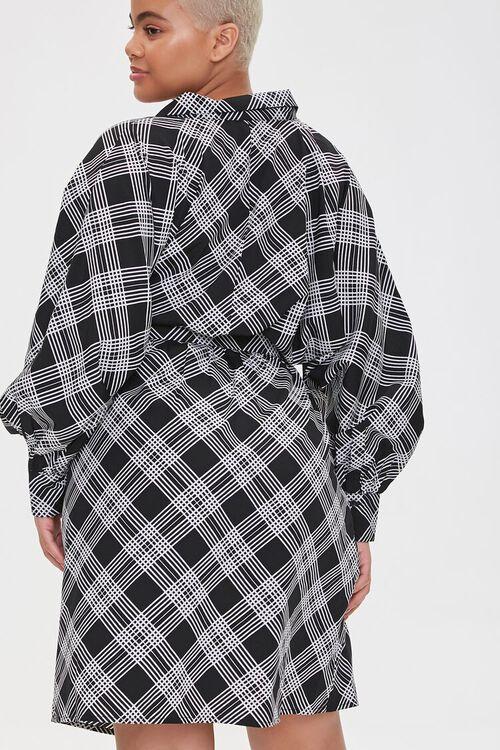 Plus Size Plaid Wrap Dress, image 3
