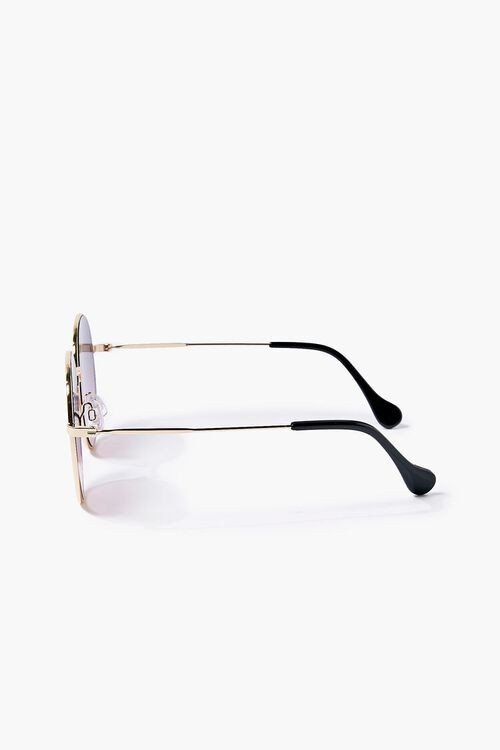Round Ombre Metal Sunglasses, image 3