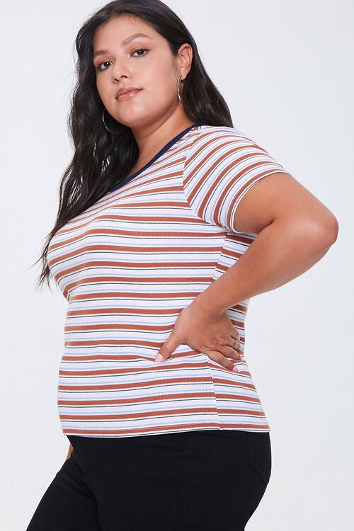Plus Size Striped Tee, image 2