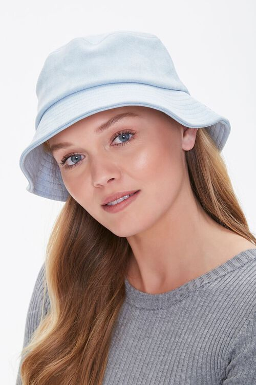Faux Suede Bucket Hat, image 1