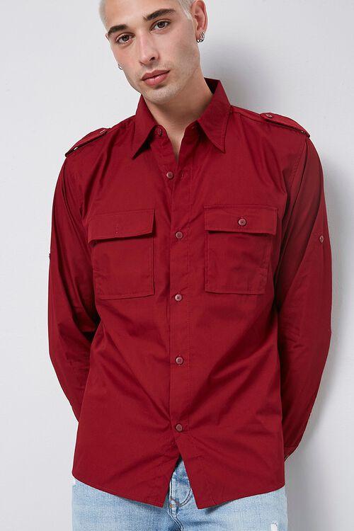 Epaulet Flap Pocket Shirt, image 1