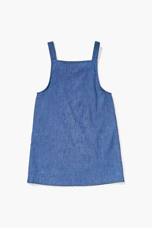 Girls Chambray Overall Dress (Kids), image 2
