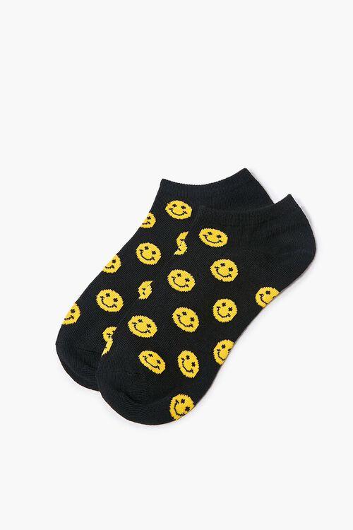 Smiling Face Print Ankle Socks, image 2