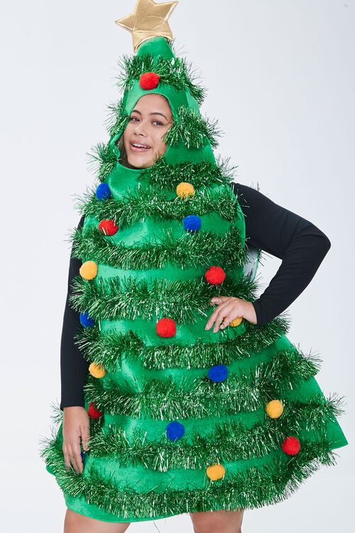 Plus Size Christmas Tree Dress, image 4