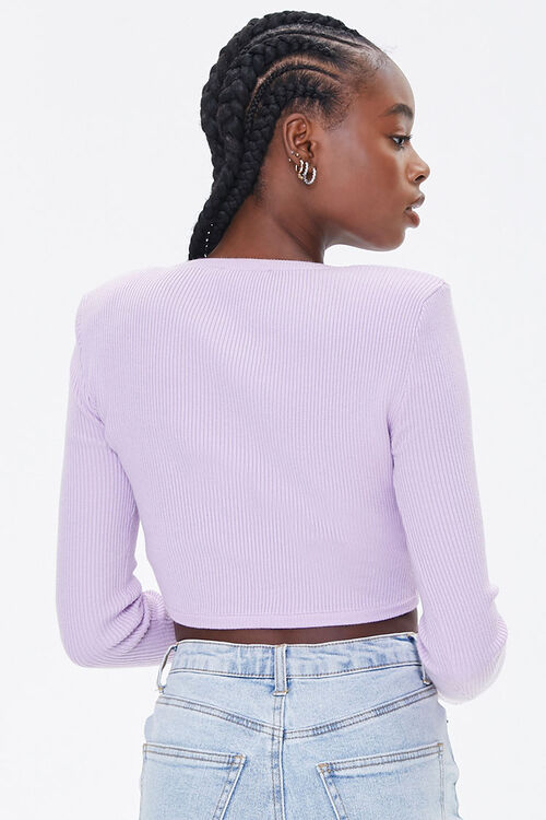 Shoulder-Pad Cropped Sweater, image 3