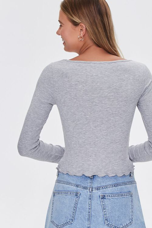 Lettuce-Edge Ribbed Top, image 3